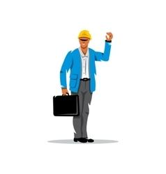 Building Engineer Cartoon vector image