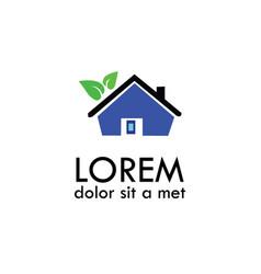 green buiding home logo vector image