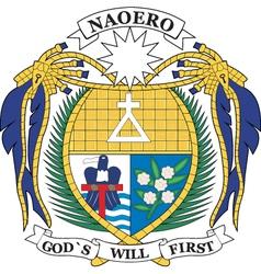Nauru Coat-of-arms vector image vector image