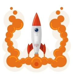 Rocket launch symbol of business startup vector image vector image