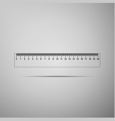 straightedge symbol ruler icon isolated vector image vector image