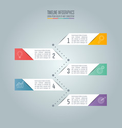 timeline business concept with 5 options vector image vector image