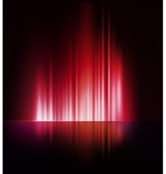 Abstract dark background with shiny light lines vector image