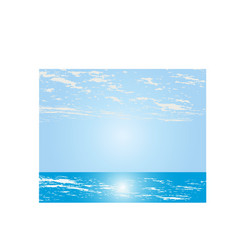 abstract seascape background vector image