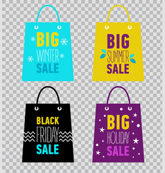 advertising shopping bags big summer sale vector image