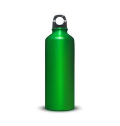 Aluminum water bottle 3d vector