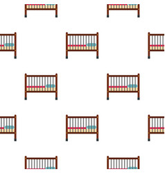 Baby bed pattern flat vector