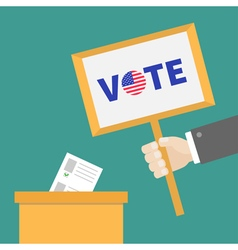Ballot Voting box Paper blank bulletin Businessman vector image