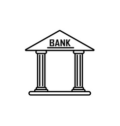 bank icon vector image vector image