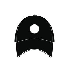 Baseball hat black simple icon vector