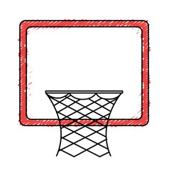 basketball basket isolated icon vector image