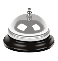 Bell on table vector