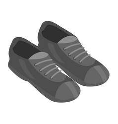 Black shoes icon isometric style vector