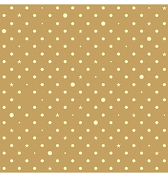 Brown yellow star polka dots background vector