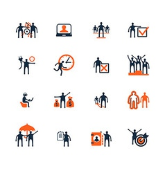 Business people icons Management human resources vector image