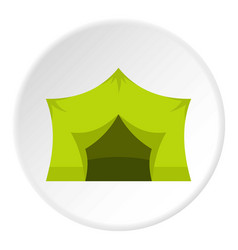 camping equipment icon circle vector image