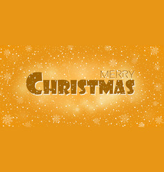 christmas gold background merry christmas and vector image