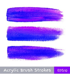 Colorful watercolor brush strokes on canvas vector