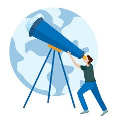 concepts for website and applications astronomer vector image