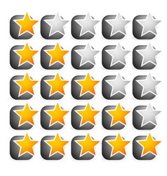 cool star rating vector image