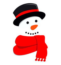 Cute snowman for greeting card vector