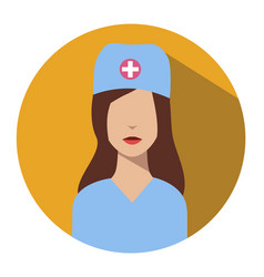 doctor web icon nurse avatar vector image