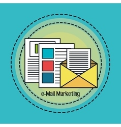 E-mail marketing flat line icons vector