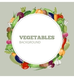 Eco food menu with cartoon vegetables vector