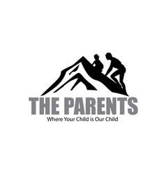 educational learning child and parents logo vector image