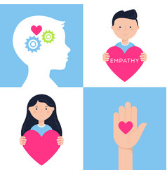 Emotional intelligence empathy and mental health vector