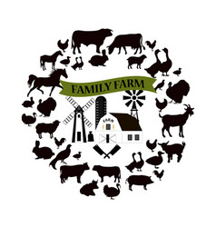 Farm and farming icons and design elements vector