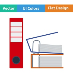 Flat design icon of Folders with clip vector image