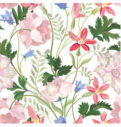 floral seamless pattern beautiful spring summer vector image