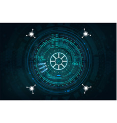 futuristic user interface gadget in hud style vector image