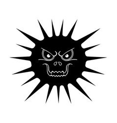 gray virus icon in black style isolated on white vector image
