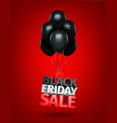 group of balloons sale message for shop bla vector image