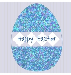Happy easter poster with decorative egg vector image