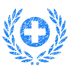 Health care embleme grunge icon vector