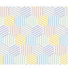 hexagon pattern seamless pattern vector image