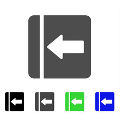 Hide menu left flat icon vector
