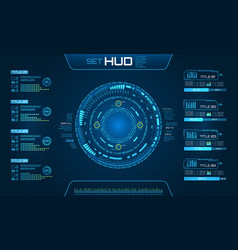 Hud ui futuristic and infographic elements vector