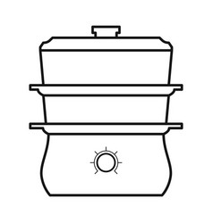 Isolated object crockpot and cooker icon web vector