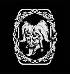 joker evil vector image