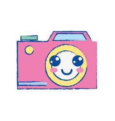 kawaii cute happy digital camera vector image
