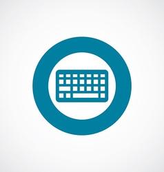 keyboard icon bold blue circle border vector image