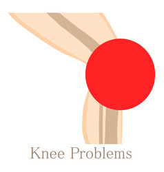 Knee problem icon cartoon style vector