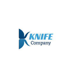 knife company icon vector image