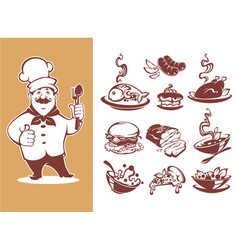 Large collection for your menu chef breackfast vector