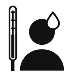 man high body temperature icon simple style vector image