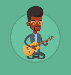Man playing acoustic guitar vector